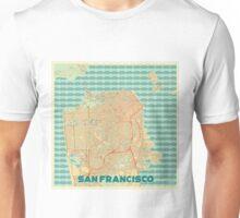 San Francisco Map Retro Unisex T-Shirt