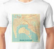 San Diego Map Retro Unisex T-Shirt