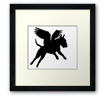 Bull Terrier--when pigs fly! Framed Print