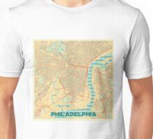 Philadelphia Map Retro Unisex T-Shirt