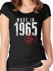 Made In 1965, All Original Parts Women's Fitted Scoop T-Shirt