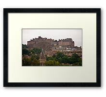 Edinburgh Castle in the Distance Framed Print