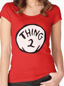 thing 2 - thing 1 and thing 2 Women's Fitted Scoop T-Shirt