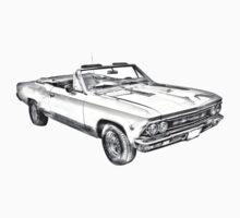 1966 Chevrolet Chevelle 283 Illustration Kids Clothes