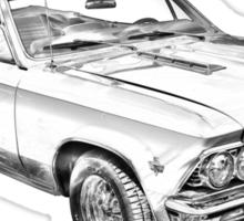 1966 Chevrolet Chevelle 283 Illustration Sticker