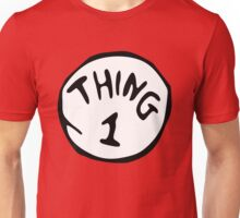 thing 1 - thing 1 and thing 2 Unisex T-Shirt
