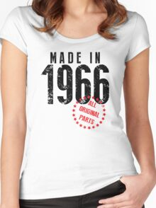 Made In 1966, All Original Parts Women's Fitted Scoop T-Shirt
