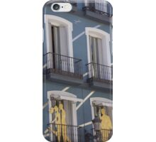 Madrid- Buildings: Wooden Silhouettes  iPhone Case/Skin