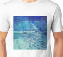 Seascape with Herman Melville Quote Unisex T-Shirt