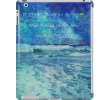 Seascape with Herman Melville Quote iPad Case/Skin