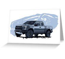 Ford Raptor - raptor dinosaurus background Greeting Card