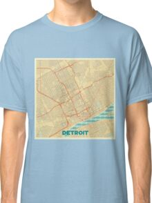 Detroit Map Retro Classic T-Shirt