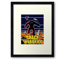Invaders from space Framed Print