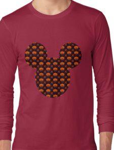 Mickey Silhouette Halloween Pumpkin Pattern Long Sleeve T-Shirt
