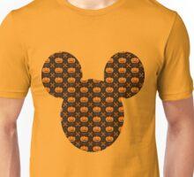 Mickey Silhouette Halloween Pumpkin Pattern Unisex T-Shirt