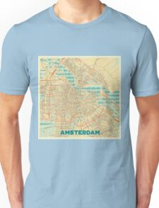 Amsterdam Map Retro Unisex T-Shirt