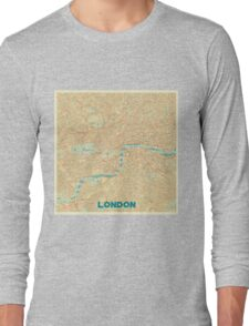 London Map Retro Long Sleeve T-Shirt