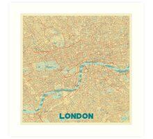 London Map Retro Art Print