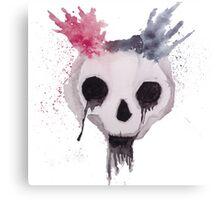 Creepy Watercolor Skull Canvas Print