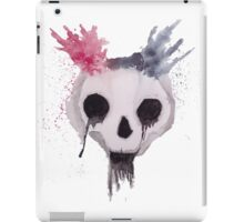 Creepy Watercolor Skull iPad Case/Skin