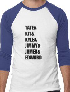Evan Peters AHS Characters- BLACK Men's Baseball ¾ T-Shirt