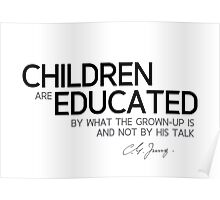 what the grown-up is - carl jung Poster