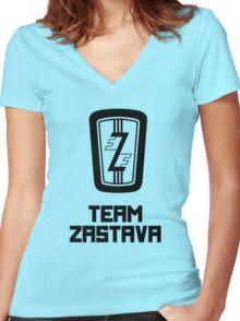 Team Zastava Women's Fitted V-Neck T-Shirt