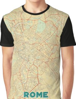 Rome Map Retro Graphic T-Shirt