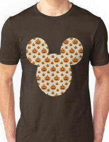 Mickey Halloween Orange Pumpkin Pattern Silhouette Unisex T-Shirt
