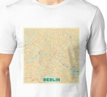 Berlin Map Retro Unisex T-Shirt