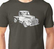 1947 Ford Flat Bed Pickup Truck Illustration Unisex T-Shirt
