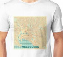 Melbourne Map Retro Unisex T-Shirt