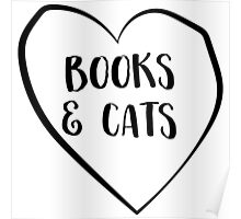 Books and Cats Poster