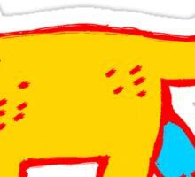 yellow boy Sticker