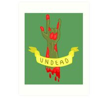 Undead Zombie Design Art Print