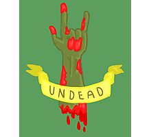 Undead Zombie Design Photographic Print