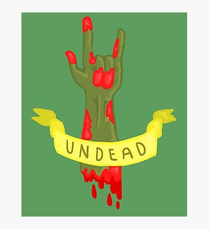 Undead Zombie Design Photographic Print