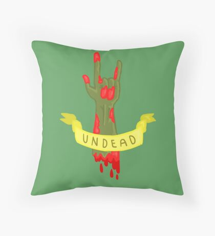 Undead Zombie Design Throw Pillow