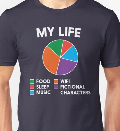 My life in a Pie Chart.  Unisex T-Shirt