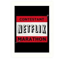 Netflix Marathon Art Print