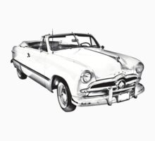 1949 Ford Custom Deluxe Convertible Illustration Kids Clothes