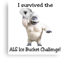 I survived ALS Ice Bucket Challenge Bumble Canvas Print