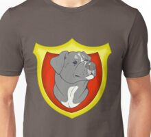 Pit Bull Pride-  Blue with Crest Unisex T-Shirt