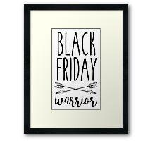 Black Friday Warrior Framed Print