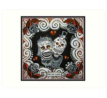 Eternal Love Skelly Couple 2 Art Print