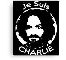 Je Suis Charlie Manson Canvas Print