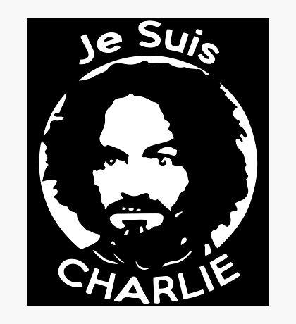 Je Suis Charlie Manson Photographic Print