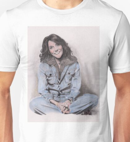 Karen Carpenter Tinted Graphite Drawing Unisex T-Shirt
