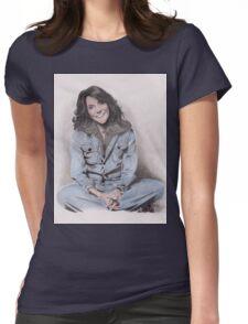 Karen Carpenter Tinted Graphite Drawing Womens Fitted T-Shirt