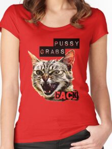 Pussy Grabs Back Women's Fitted Scoop T-Shirt